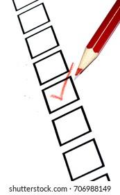 Marked check box