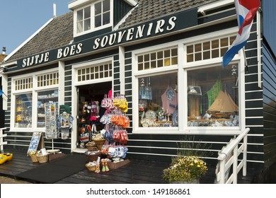 "MARKEN - JULY 15: ""Sijtje Boes"" is the most well-known souvenir shop in Marken, the Netherlands, on July 15, 2013."