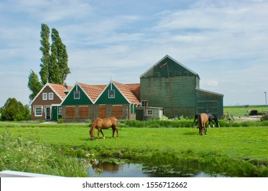 Marken, The Netherlands - may 16 2017: Farmhouse in an authentic part of the former island of Marken