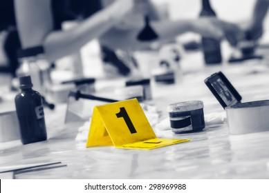 Marker of Crime Scene