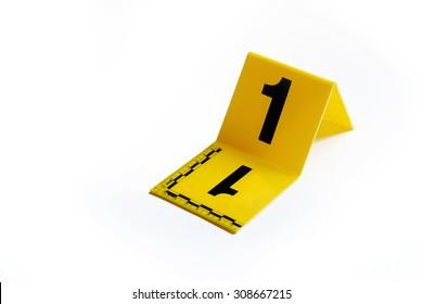 Marker of Crime Scene Number 1  sc 1 st  Shutterstock & Evidence Marker Images Stock Photos u0026 Vectors | Shutterstock