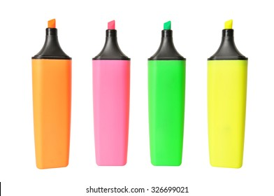 markers isolated on a white background