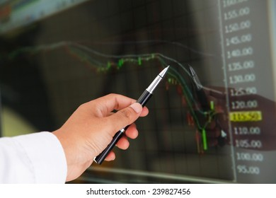 Market analyzing, Business charts and markets on display