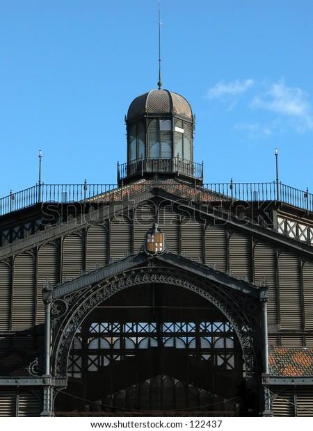 The market building of El Born, Barcelona, Spain