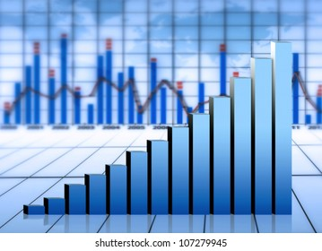 market chart and graph