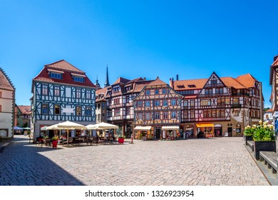 Market and Church of Schmalkalden, Germany