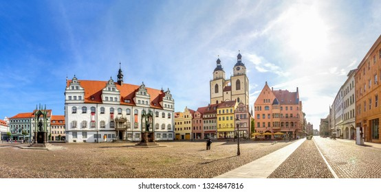Market and Church of Wittenberg, Germany