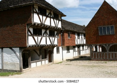 A market hall from Titchfield Hampshire, England in a fifteenth century shopping mall.