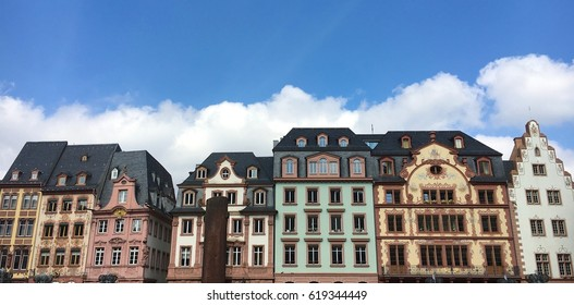 Market houses in Mainz, Germany