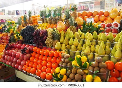 market Kiev fruit and preserves