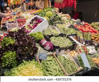 At the market in La Boqueria (Barcelona)