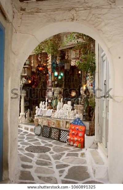 Market in Lefkes, Paros island