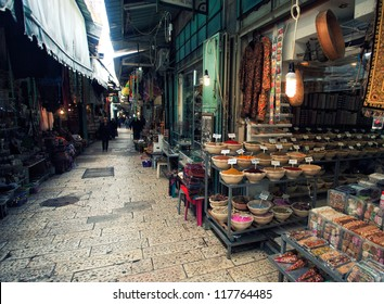 Market in Old city of Jerusalem