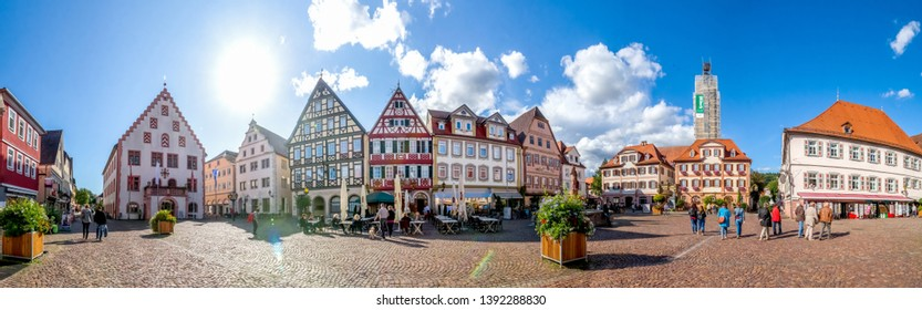 Market Place of Bad Mergentheim, Germany