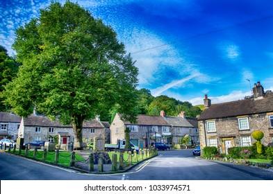 Market Place, Castleton, Derbyshire, England