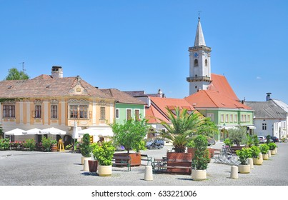 Market Place in famous Village of Rust at Lake Neusiedlersee in Burgenland,Austria