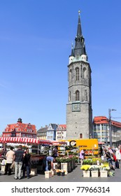Market Place in Halle (Saale), Germany