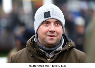 MARKET RASEN RACECOURSE, LINCOLNSHIRE, UK : 22 NOVEMBER 2018 : Racehorse Trainer Olly Murphy at Market Rasen Races