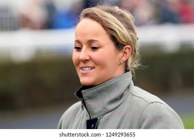MARKET RASEN RACECOURSE, LINCOLNSHIRE, UK : 22 NOVEMBER 2018 : Racehorse Trainer Amy Murphy at Market Rasen Races