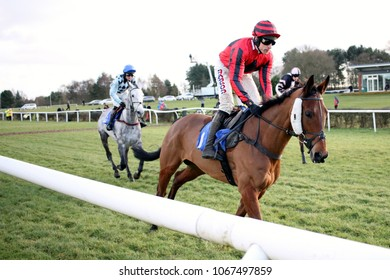 Market Rasen Racecourse, Lincs, UK, 17 January 2018 :Three Muskateers ridden by Harry Skelton and trained by Dan Skelton running in the £20,000 Weatherbys Bank Graduation Chase