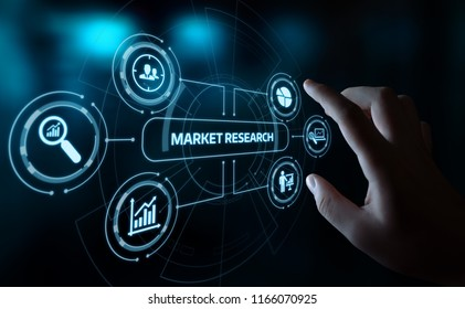 Market Research Marketing Strategy Business Technology Internet concept.