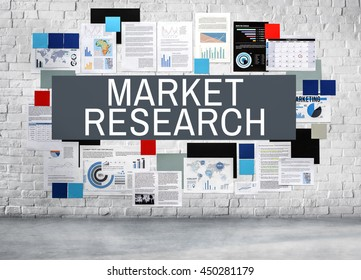 Market Research Stock Investment Report Concept
