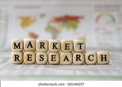 Market Research word built with letter cubes
