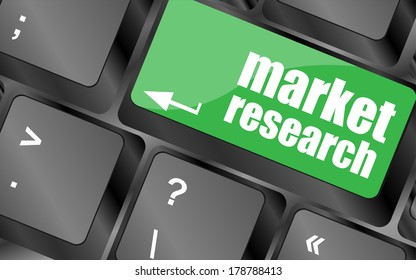 market research word button on keyboard keys, business concept