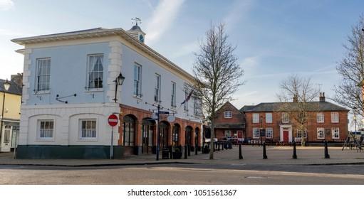 Market Square in central Alton, Hampshire (UK).