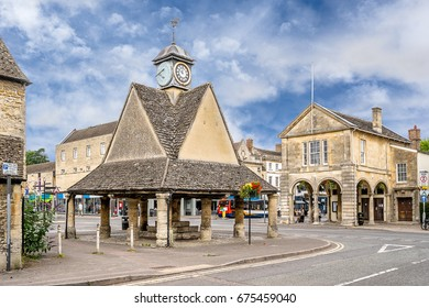The market square in the Cotswold village of Witney
