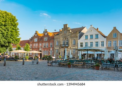 Market square in Friedrichstadt with its famous architecture