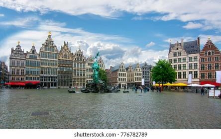 Market square (Grote markt), Antwerp, Belgium