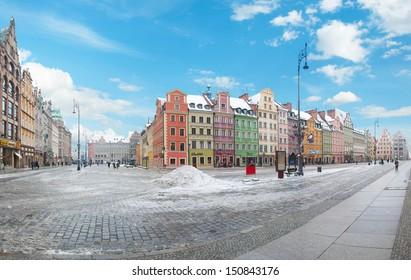 Market Square (Rynek Glowny) in Wroclaw, Poland