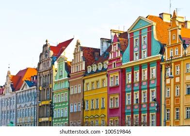 Market square tenements, Wroclaw Poland