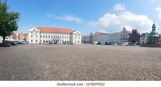 Market Square in Wismar is one of the sightseeing places in Nordwestmecklenburg district, Mecklenburg-Vorpommern state, northern Germany