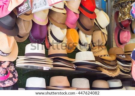 f9bb6d93 Market Stall Craftsmanship Hats Straw Hats Stock Photo (Edit Now ...