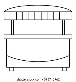 Market stand kiosk stall icon. Outline illustration of market stand kiosk stall  icon for web