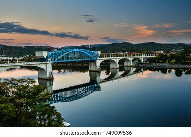 The Market Street Bridge (also John Ross Bridge) is a bascule bridge that spans the Tennessee River between downtown Chattanooga, Tennessee, and the Northshore District.