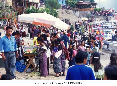 Market and Street salers in the old city in the town of Antigua in Guatemala in central America.    Guatemala, Antigua, September, 2014