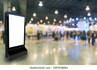 Marketing and advertisement concept digital signage billboard or advertising light box for your text message or media content in department store shopping mall