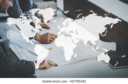 Marketing Business Worldwide Transportation Dhipping ConceptC