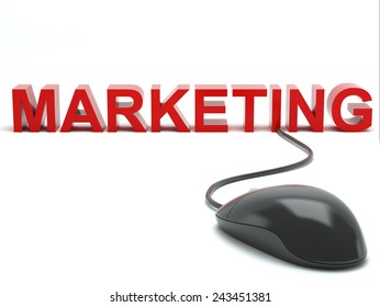 Marketing connected to a computer  mouse