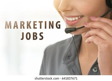 Marketing jobs concept. Female dispatcher working in office