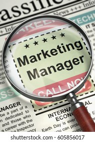Marketing Manager Join Our Team. 3D.