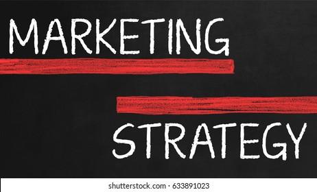 Marketing Strategy on chalk board