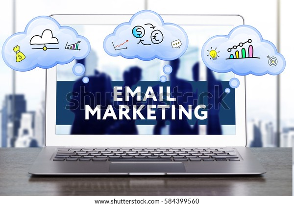 Marketing Strategy. Planning Strategy Concept. Business, technology, internet and networking concept. Email marketing