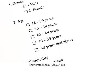 Marketing Survey, Age
