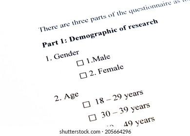 Marketing Survey, Gender