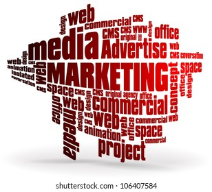 Marketing text illustration
