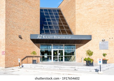 Markham, On, Canada - October 5, 2020: Kraft Berger LLP office in Markham, On, Canada. Kraft Berger LLP is a multidisciplinary accounting firm.